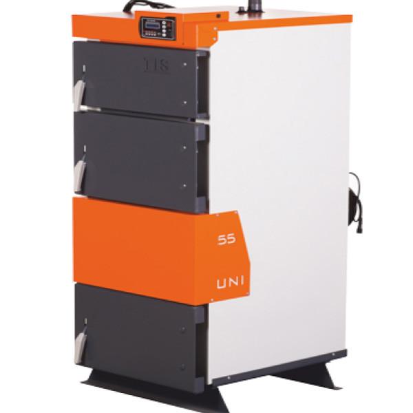 Твердотопливный котел  TIS UNI 55 (550 кв,м,) с автоматикой - OptMan - самые низкие цены в Украине в Харькове