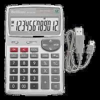 Калькулятор с USB-портом  12разр., BS-20USB, BRILLIANT