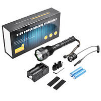Подствольный фонарь для охоты Police Q2811-T6, металл, под ружье, выносная кнопка, 2 аккумулятора