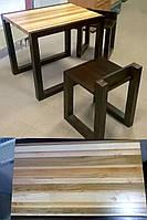 Стол и стулья - массив дерева