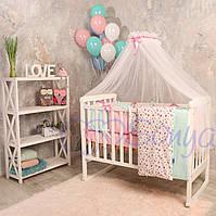 Детское постельное белье ТМ Маленькая Соня Бэби дизайн Премиум Прованс с балдахином