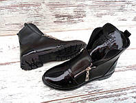 Ботинки женские весна-осень кожаные Hermes на низком ходу Uk0410