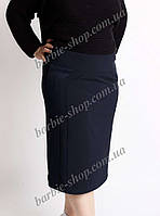 Женская юбка-карандаш в т.синем цвете 5268 (батал)