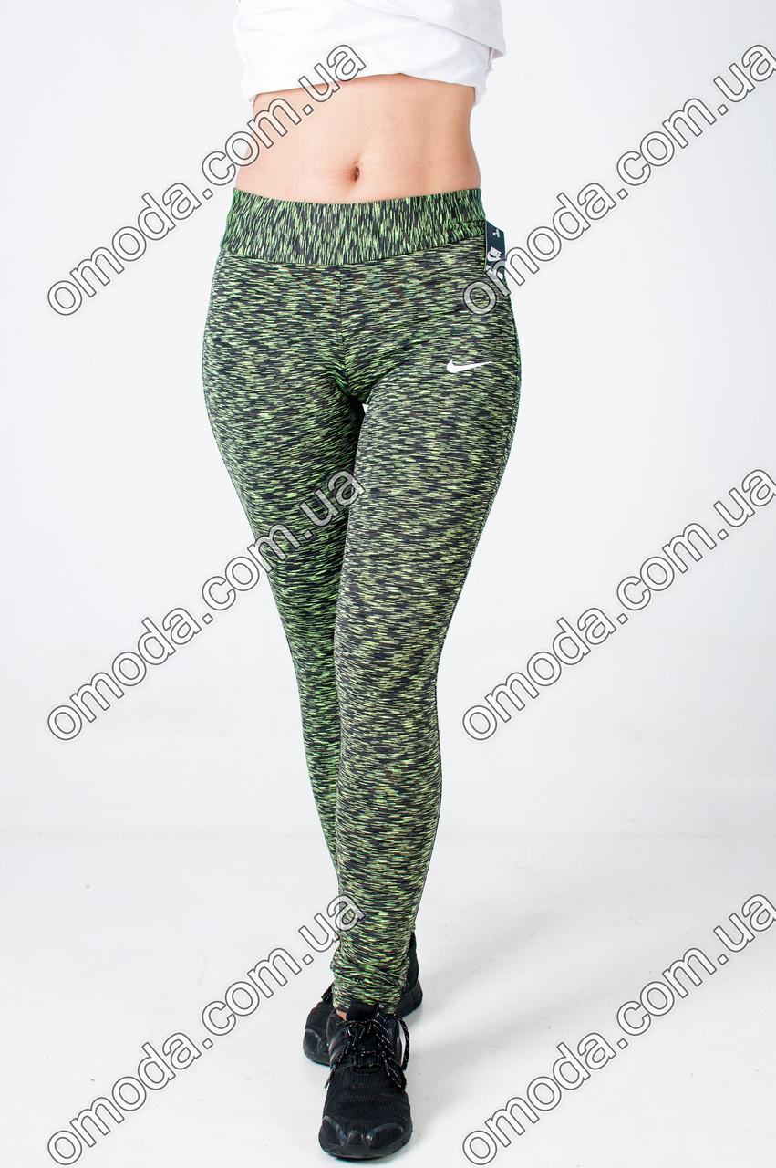 Женские модные спортивные лосины зеленого цвета