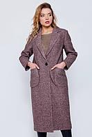 """Длинное пальто """"Одри"""" коричневое"""