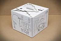 Коробка самосборная для торта 25*25*20 с рисунком (код 05572)