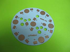 Монтажная пластина LED лампы 7W, 7*1W светодиодов, d=49mm