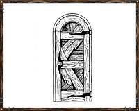 Дверь из массива сосны ДД-1