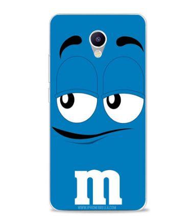 Силиконовый чехол бампер для Meizu M5 Note с картинкой M&m's синий