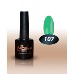 Гель-лак Nice for you № 107 (зеленый летний) 8.5 мл