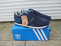 Мужские Кроссовки Adidas Neo синие замша