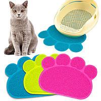 Коврик подстилка для домашних животных Paw Print Litter Mat