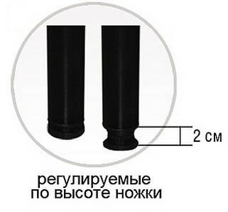 Ножка к каркасу кровати черная