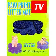 Коврик подстилка для домашних животных Paw Print Litter Mat, фото 3