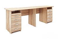 """Двойной компьютерный стол """"Тандем-255"""", двухтумбовый, ДСП"""