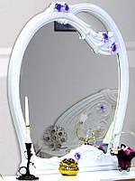Лулу зеркало белый глянец