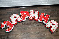 Подушки-буквы ко Дню Святого Валентина
