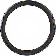 Оплетка руля кожзам L King KSW-2782 черный/синий