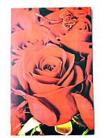 Подарочный пакет  Большой Вертикальный 25х39х9см Розы красные