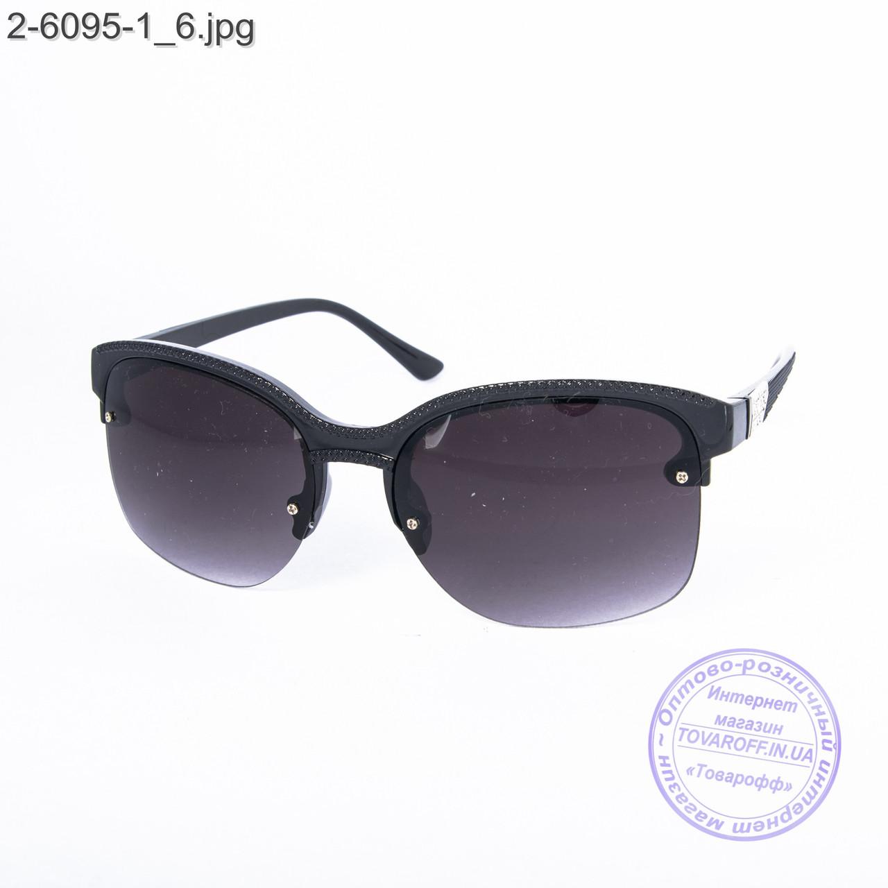 Солнцезащитные очки унисекс черные - 2-6095