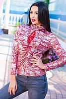 Женская блузка с гипюром 8808