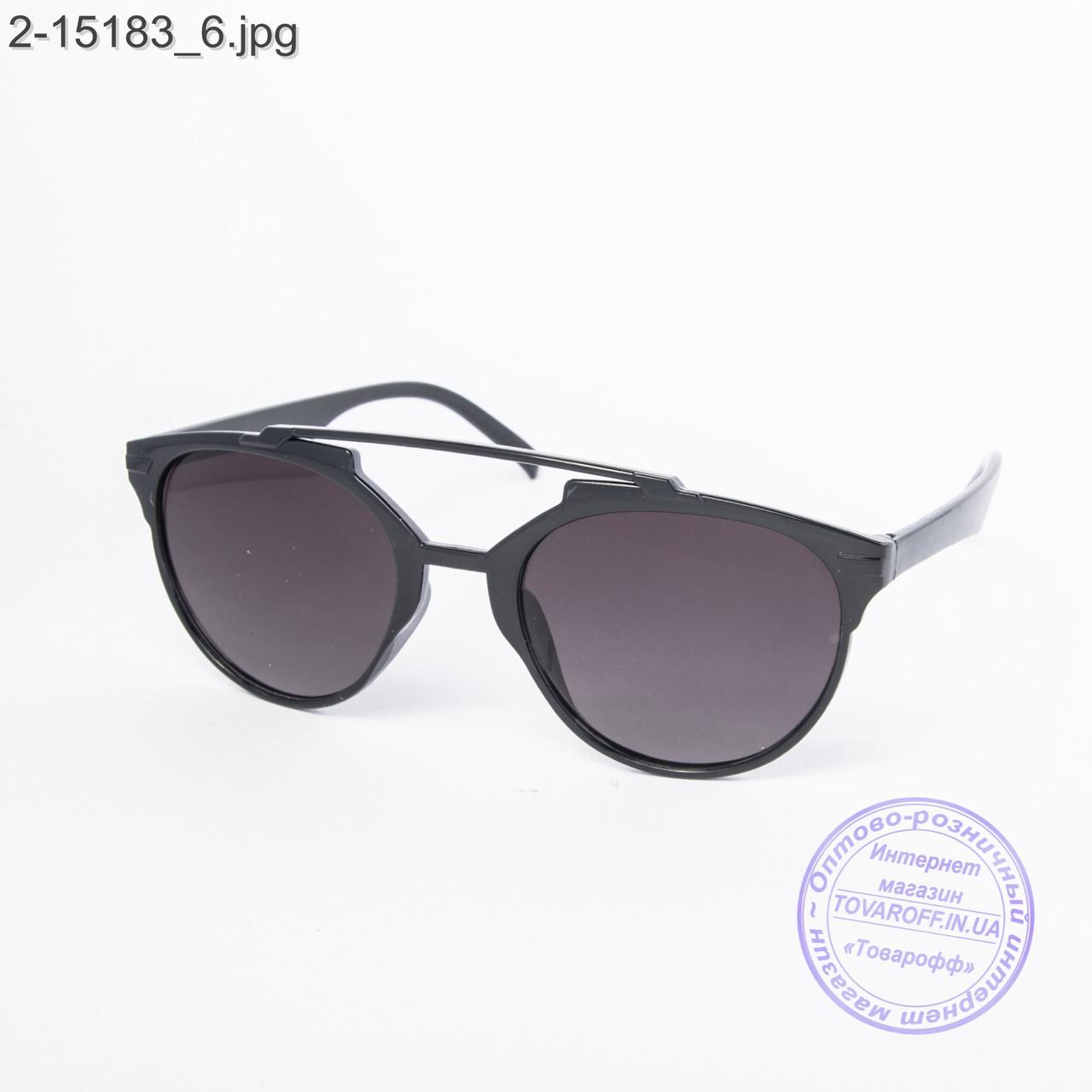 Солнцезащитные очки унисекс черные - 2-15183