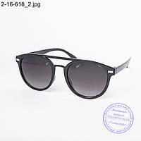 Солнцезащитные очки унисекс черные - 2-16-618, фото 1