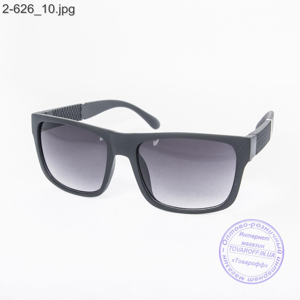 Солнцезащитные очки унисекс черные - 2-627