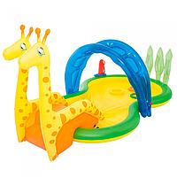 """Бассейн надувной игровой, """"Зоопарк"""", с распылителем, 338 х 167 х 129 см"""