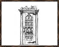 Оригинальная дверь из массива сосны ДД-7