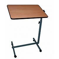 Стол прикроватный (ДСП ламинированное 16 мм,ПВХ 2 мм, на роликах, цвет-ольха,