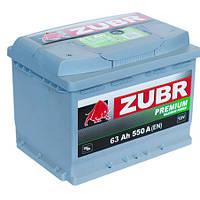 Аккумулятор автомобильный ZUBR Premium - 63A +лев (550 пуск)