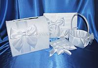 Свадебные аксессуары ручной работы цвет белый, с гипюром