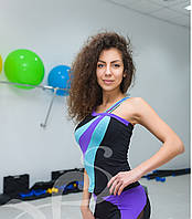 Яркая и модная спортивная майка Радуга 3