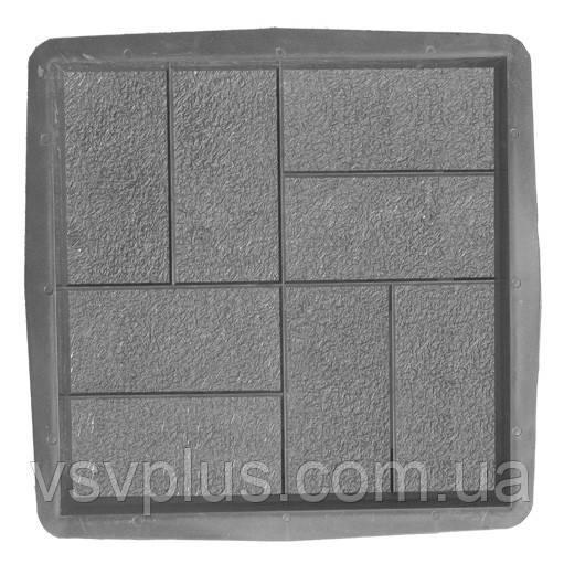Великі форми для тротуарної плитки Паркет 400х400х50 Верес 1 шт