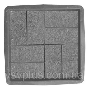 Великі форми для тротуарної плитки Паркет 400х400х50 Верес 1 шт, фото 2