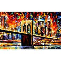 Картины по номерам / коробка. Бруклинский мост 30 * 50см
