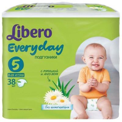 Подгузники Libero Everyday XL 5 (11-25 кг) 38шт.