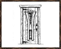 Межкомнатная дверь из массива сосны ДД-5