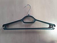 """Вешалка для верхней одежды №3-В """"широкое плечо""""  темно зеленная"""