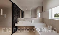 Минимализм в ванной: отделка акриловым камнем