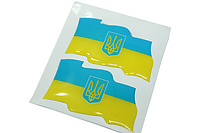 Наклейка 2шт (Flag UKRAINE)