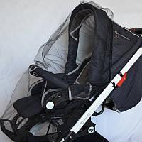 Москитная сетка на коляску универсальная (чёрная)