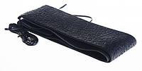 Оплетка руля кожзам L черный Vitol 16999L на шнурке