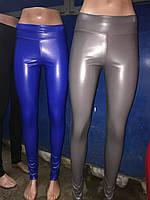 Разный цвета Женские лосины ЭКО кожа Модель 2017 г