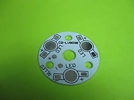 Монтажная пластина LED лампы 3W, 3*1W светодиодов, CQ-LV8098 d=34mm