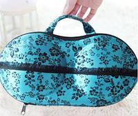 Органайзер - сумочка для бюстгальтерів (з сіточкою), синій в квітах / Органайзер - сумочка для бюстгалтеров.