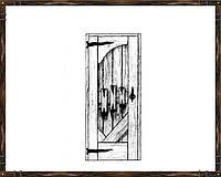 Дверь из массива сосны ДД-3