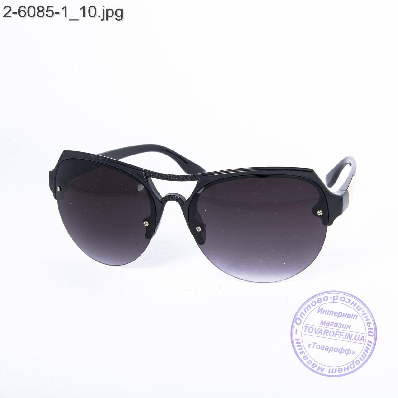 Солнцезащитные очки унисекс - черные - 2-6085-1