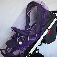 Москитная сетка на коляску универсальная (фиолетовая)